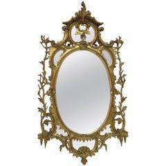 George III Oval Giltwood Mirror
