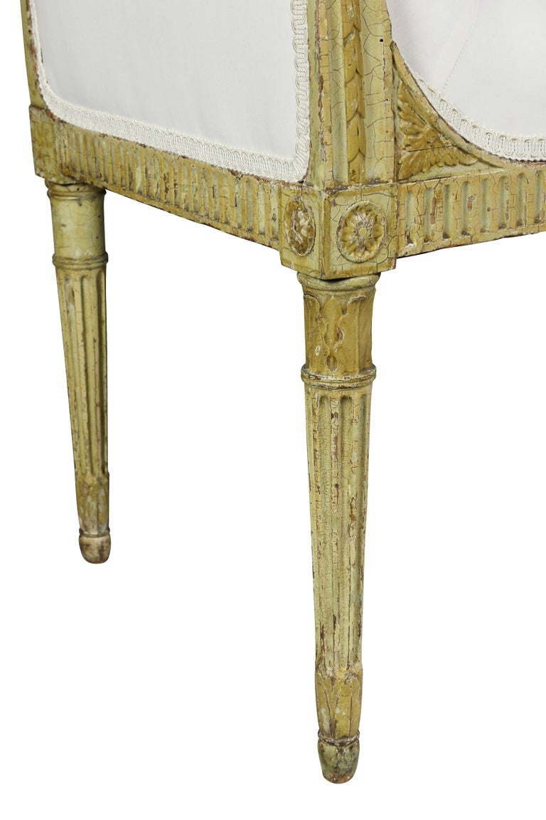 Wood George III Painted Window Bench For Sale