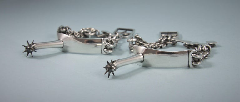 George III Pair of Sterling Silver Spurs, London, 1797 In Good Condition For Sale In London, GB