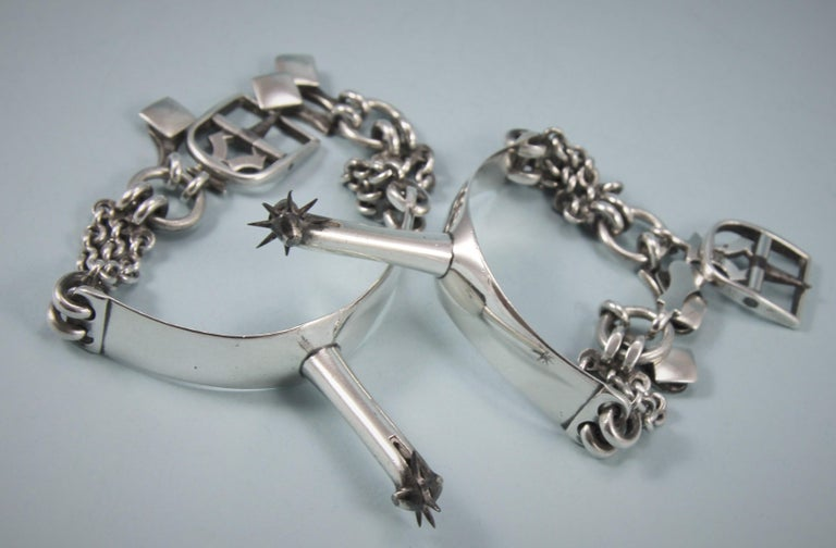 George III Pair of Sterling Silver Spurs, London, 1797 For Sale 3