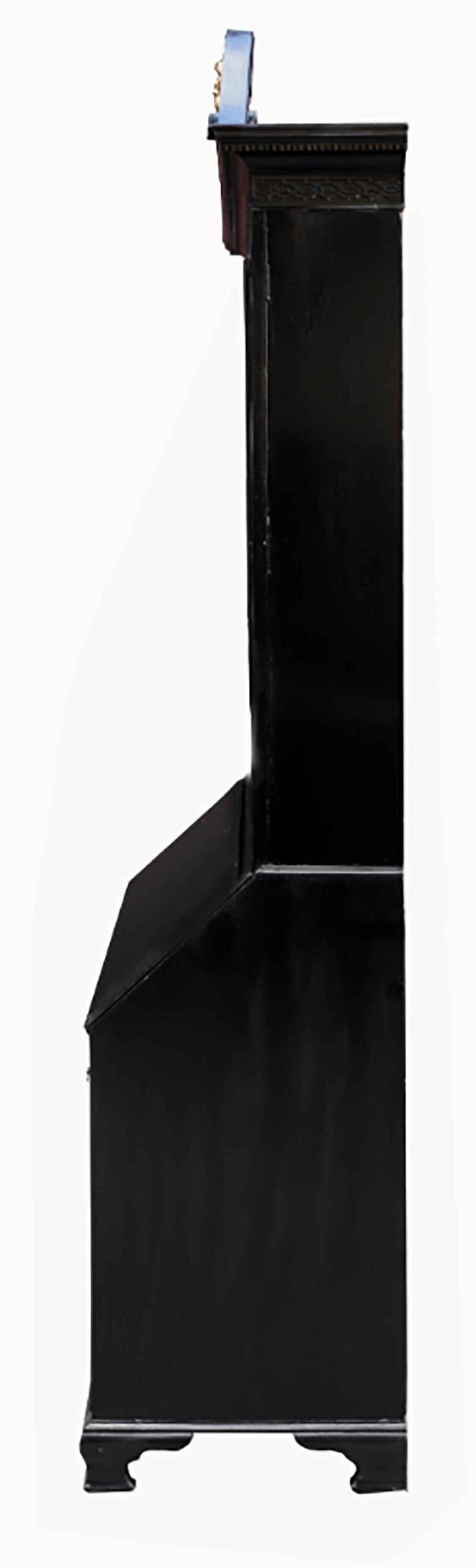 George III Parcel-Gilt Secretary Bookcase For Sale 5