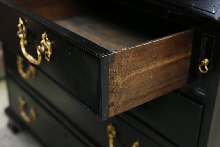 George III Parcel-Gilt Secretary Bookcase with Provenance For Sale 6