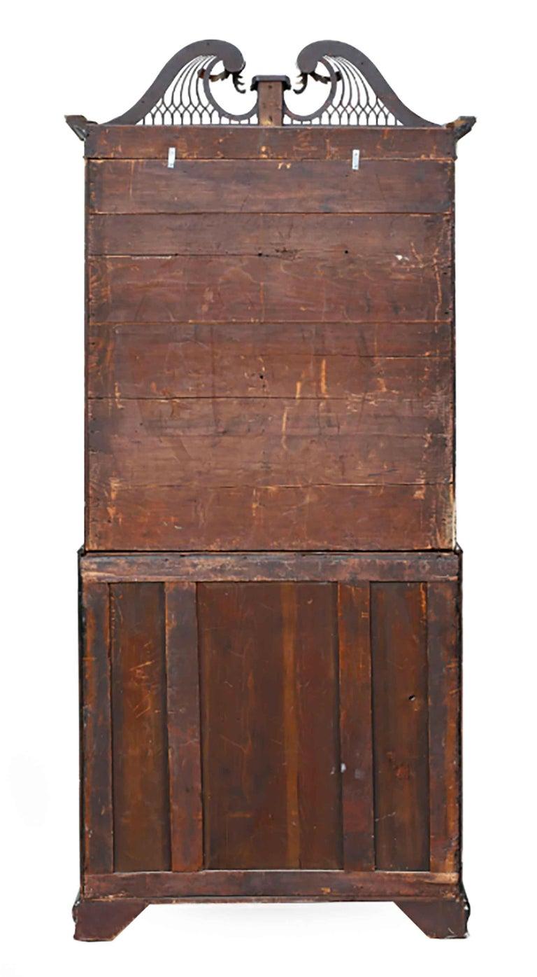 George III Parcel-Gilt Secretary Bookcase For Sale 6
