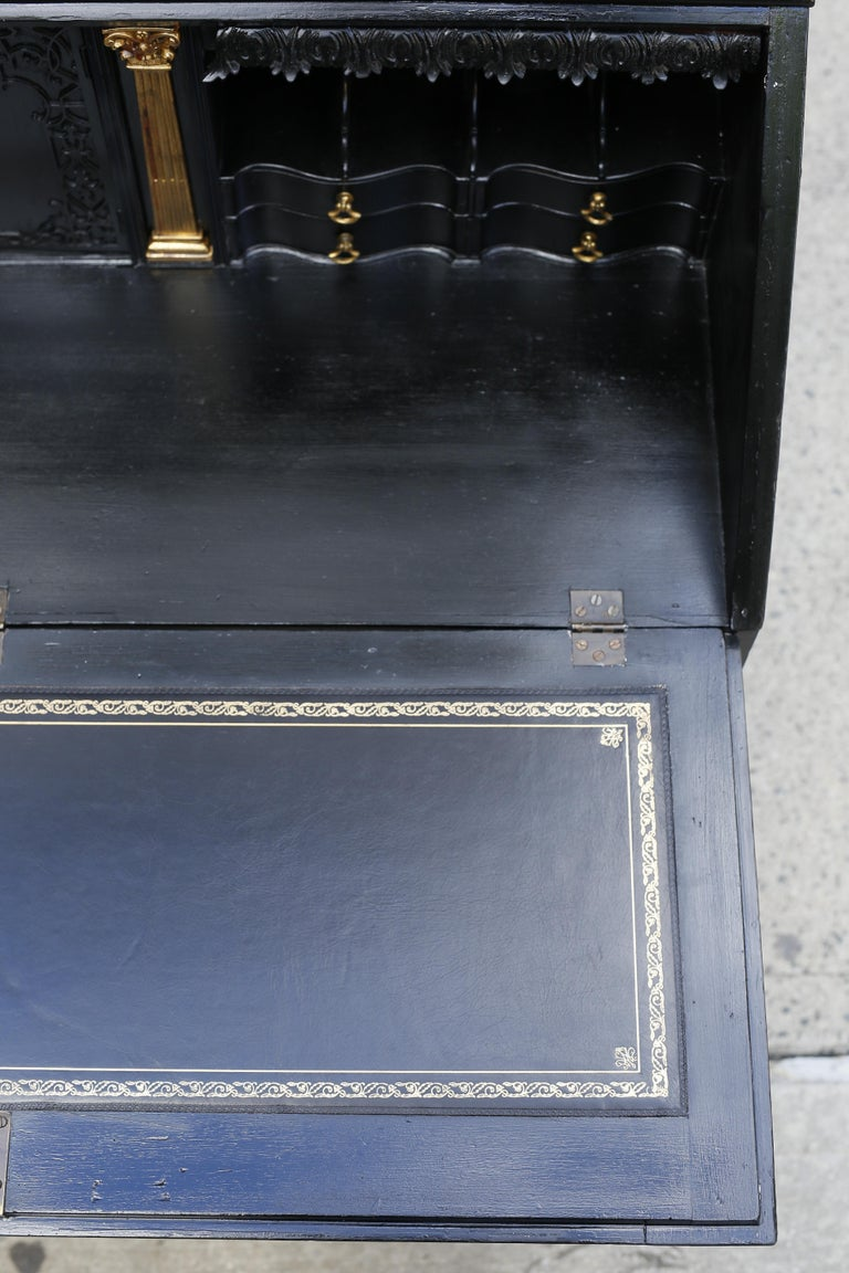 George III Parcel-Gilt Secretary Bookcase with Provenance For Sale 7