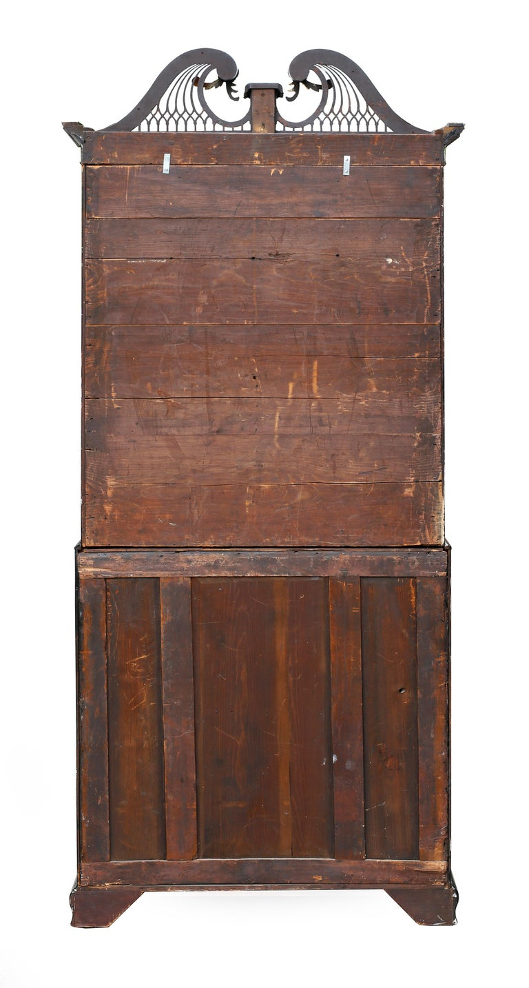 George III Parcel-Gilt Secretary Bookcase with Provenance For Sale 8