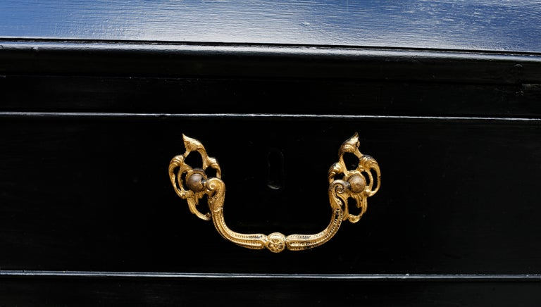 George III Parcel-Gilt Secretary Bookcase with Provenance In Good Condition For Sale In Brooklyn, NY