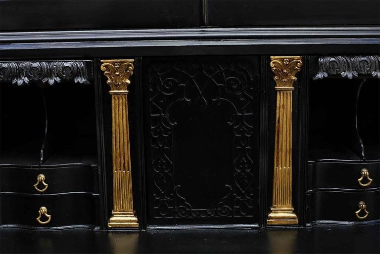 George III Parcel-Gilt Secretary Bookcase For Sale 2