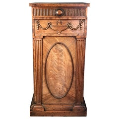 George III Period Carved Mahogany Pedestal