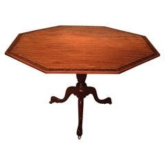 George III Period Figured Mahogany Octagonal Breakfast Table