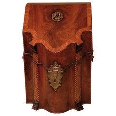George III Period Figured Mahogany Serpentine Cutlery Box