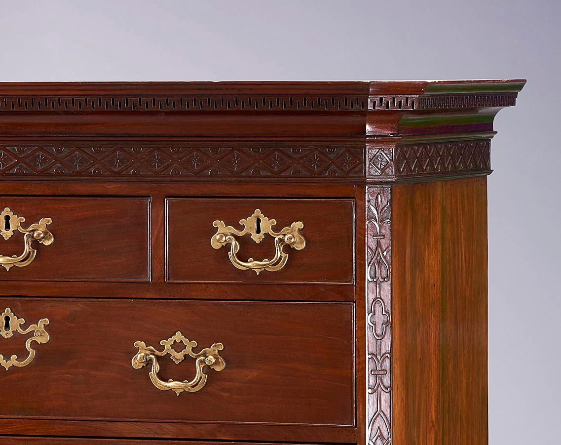 George III Period Mahogany Chest-on-Chest of Fine Quality