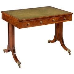 George III Period Mahogany & Ebony Two Drawer Writing Table