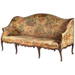 George III Period Mahogany Framed Tapestry Sofa