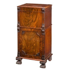 George III Period Mahogany Pedestal Cupboard
