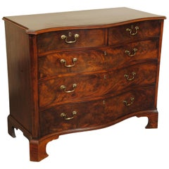 George III Period Mahogany Serpentine Chest of Drawers