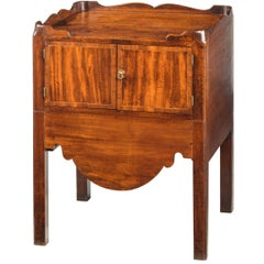 George III Period Mahogany Tray Top Commode