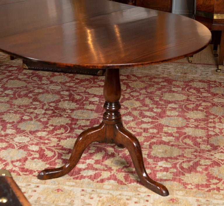 George III Period Mahogany Twin Pedestal Dining Table For Sale 2