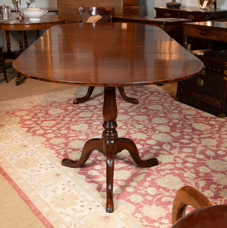George III Period Mahogany Twin Pedestal Dining Table For Sale 3