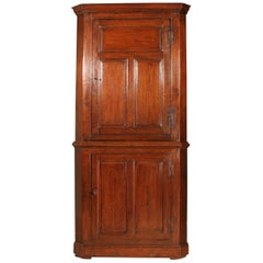 George III Period Oak Corner Cupboard