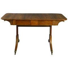 George III Period Rosewood Sofa Table, circa Late 18th Century