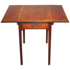 George III Period Satinwood Pembroke Table
