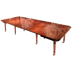 George III Regency Gillows Mahogany Extending Dining Table