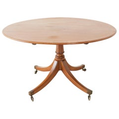 George III Regency Tilt Top Mahogany Breakfast Dining Table
