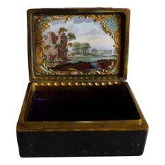 George III Rococco Pressed Tortoiseshell, Ormolu, Bilston/Battersea Snuff Box