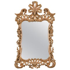 George III Rococo Giltwood Wall Mirror