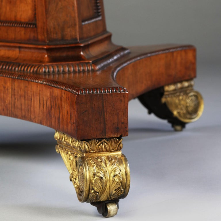 George III Rosewood and Mahogany Drum Table / Centre Table In Good Condition For Sale In Buscot, Oxfordshire