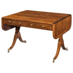 George III Rosewood and Satinwood Sofa Table