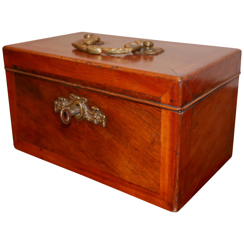 George III Satinwood and Crossbanded Tea Caddy