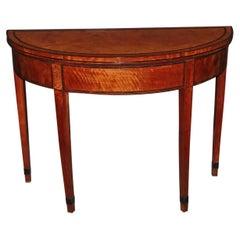 George III Satinwood Game Table