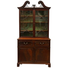 George III Secretaire Bookcase in the Manner of Thomas Chippendale
