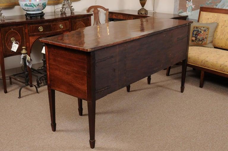 George III Serpentine Mahogany & Satinwood Inlaid Sideboard, ca. 1800 For Sale 3