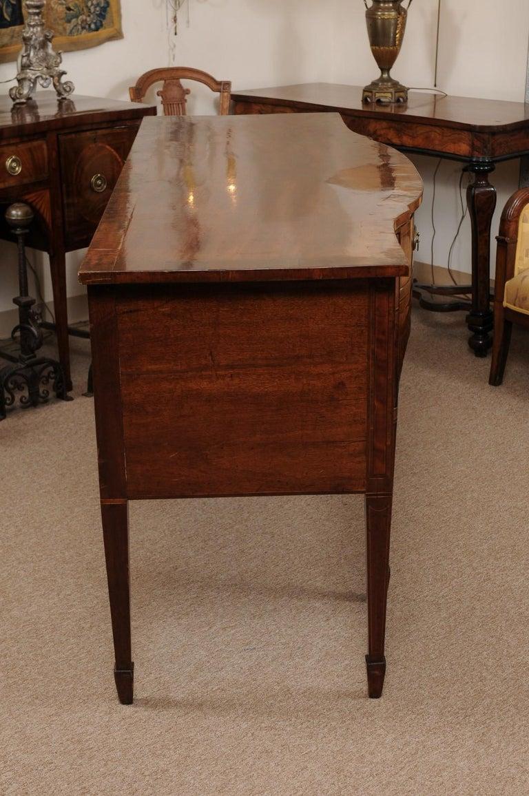 George III Serpentine Mahogany & Satinwood Inlaid Sideboard, ca. 1800 For Sale 1