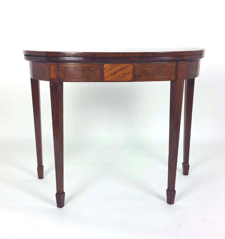 george iii sheraton mahogany fold over card table for sale at 1stdibs