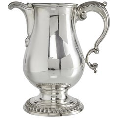 George III Silver Beer or Water Jug