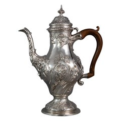 George III Silver Coffee Pot, London 1769 by William Abdy