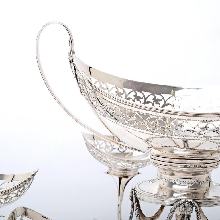 Neoclassical George III Silver Épergne For Sale