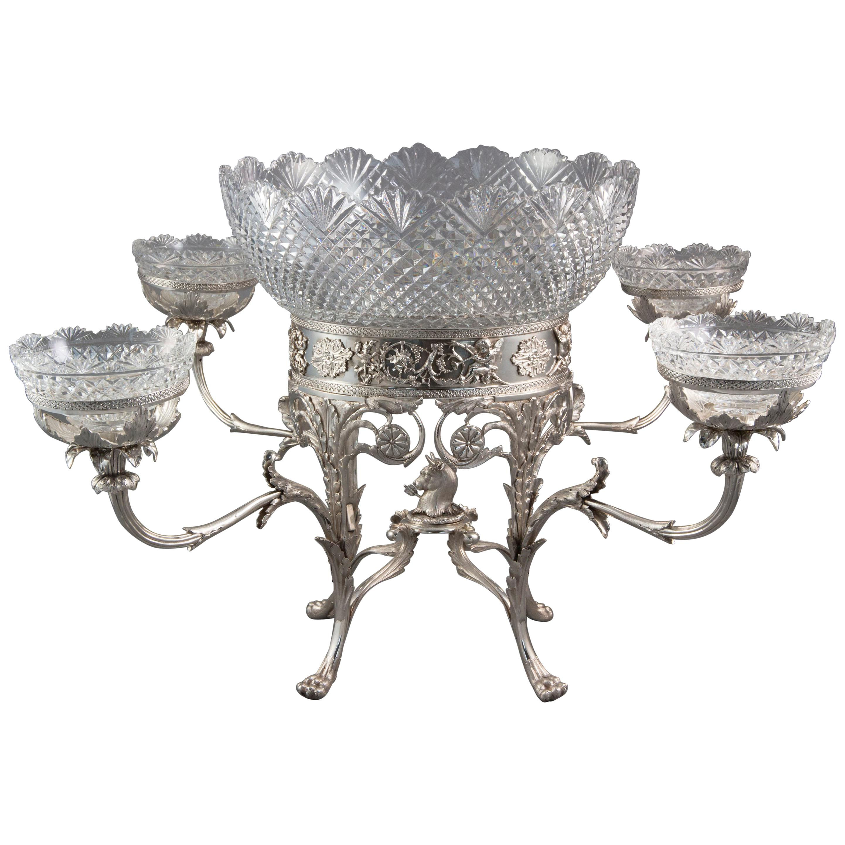 George III Silver Epergne, London 1808 by William Pitts