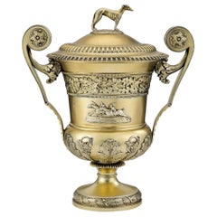 George III Silver Gilt Cup & Cover Made in London in 1815 by William Elliot