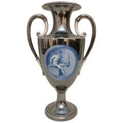 George III Silver Lusterware Vase