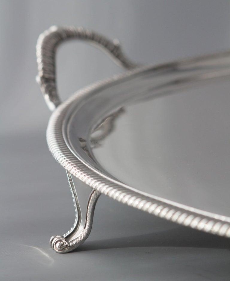 English George III Silver Tea/Drinks Tray, London, 1811 For Sale