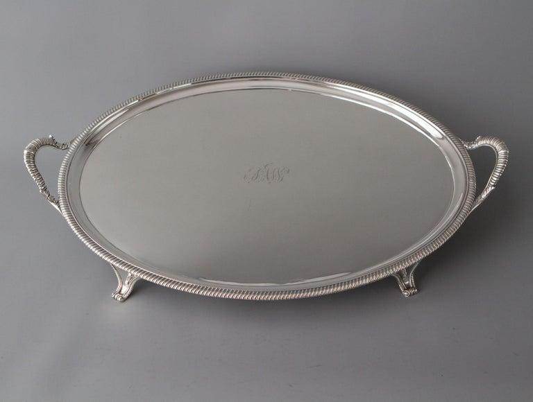 George III Silver Tea/Drinks Tray, London, 1811 For Sale 2
