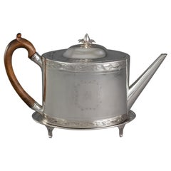 George III Silver Teapot and Stand London 1792 by Robert Hennell