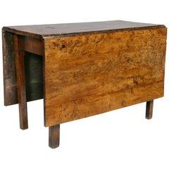 George III Solid Yewwood Drop Leaf Table