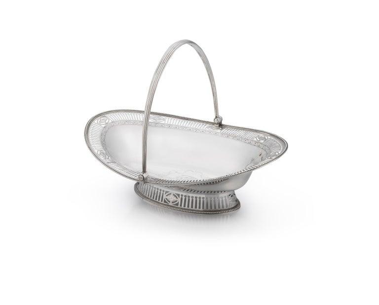 George III Sterling Silver Cake Basket For Sale 6