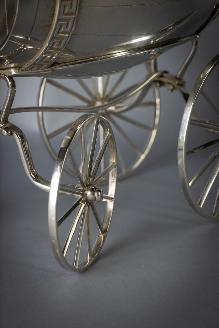 English George III Sterling Silver Jolly Wagon For Sale