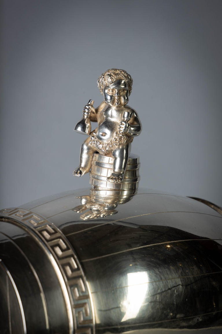 George III Sterling Silver Jolly Wagon In Good Condition For Sale In New York, NY